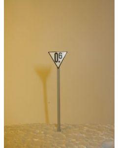 Geschwindigkeitstafel, Messing, Fertigmodell