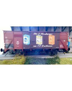 Güterwagen G10, mit Werbung für Darboven