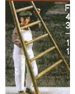 Mann Leiter tragend