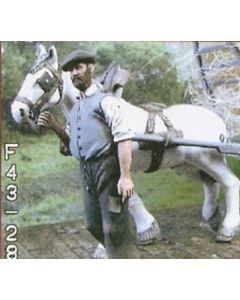 Pferd mit Geschirr