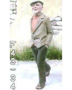 Mann mit Baskenmütze