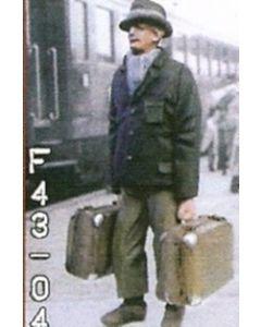 Reisender mit 2 Koffer